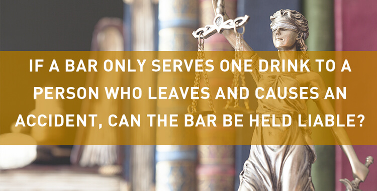 When can a bar be held liable for a car accident?