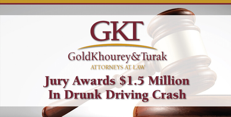Jury Awards $1.5 Million in Drunk Driving Crash