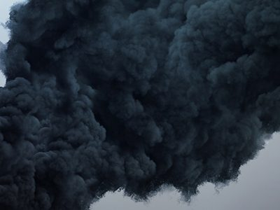 Oil and Gas Explosion Smoke