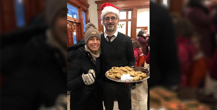 Christian Turak with Christmas Cookies
