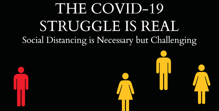 Social Distancing is Necessary but Challenging
