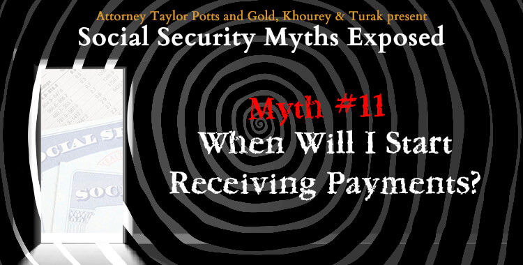 Myth #11: When Will Social Security Payments Start?