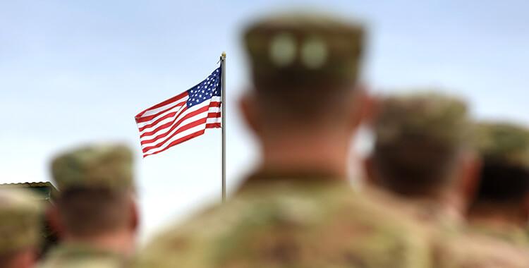 helping heroes veterans looking flag