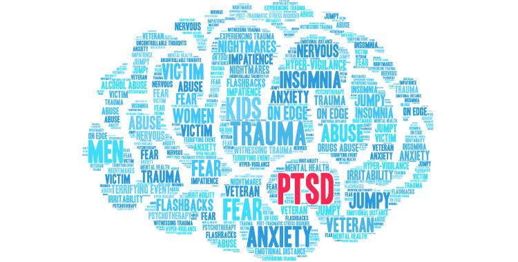 PTSD brain cloud for car accident