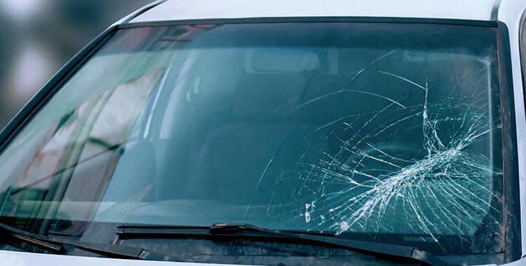 Car Passenger Wreck Windshield Crack