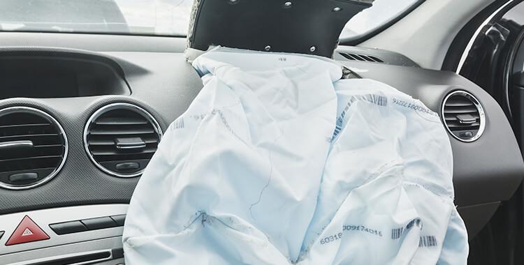 Car accident airbag passenger